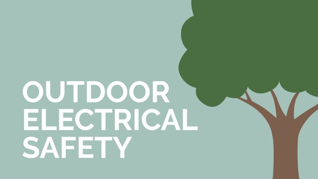 Video image explaining the importance of outdoor electrical safety for you home.